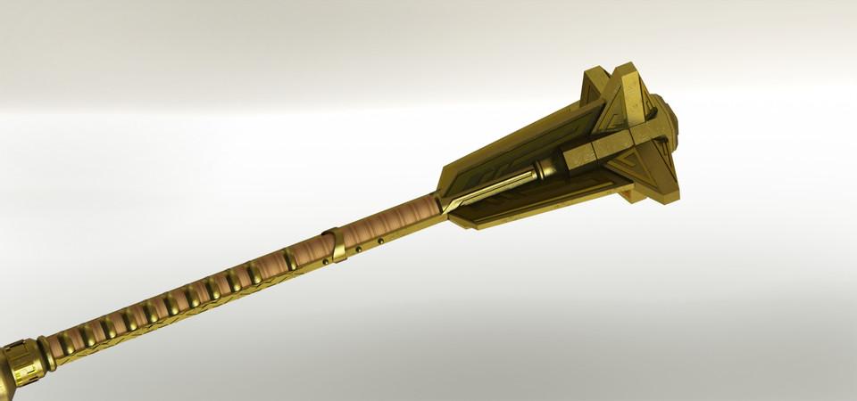 Dwarven Mace Skyrim - SOLIDWORKS - 3D CAD model - GrabCAD