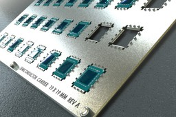 Semiconductor carrier 19 x 19 mm reva ( 3 x 8 matrix )