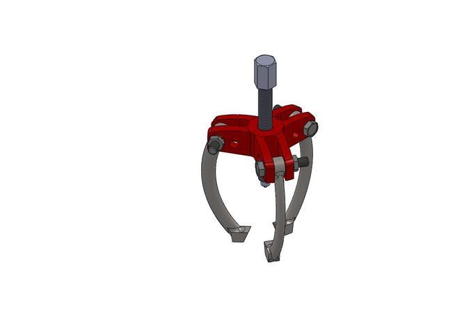 Bearing Puller Cad : Bearing puller solidworks d cad model grabcad