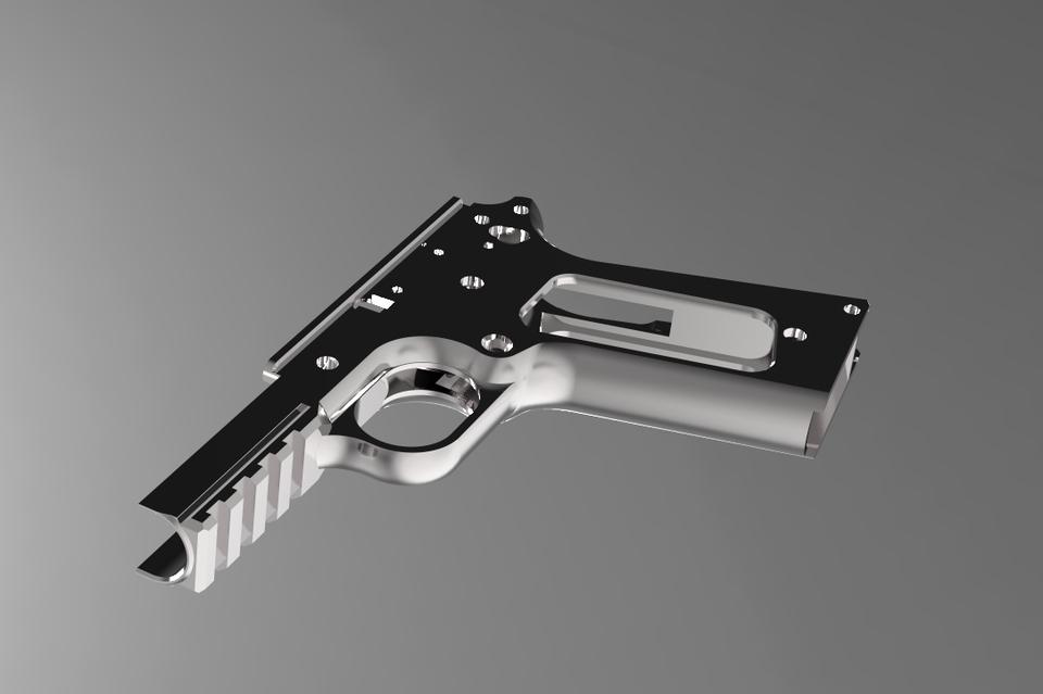 Taho Designs 1911 Frame   3D CAD Model Library   GrabCAD