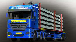 Convoy Exeptionnel (extendable flatbed trailer)