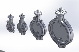 2 Through 12in Delta T 050 series Butterfly Valves