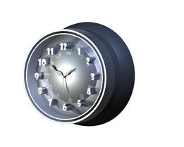 Clock modern 3d design dome shape