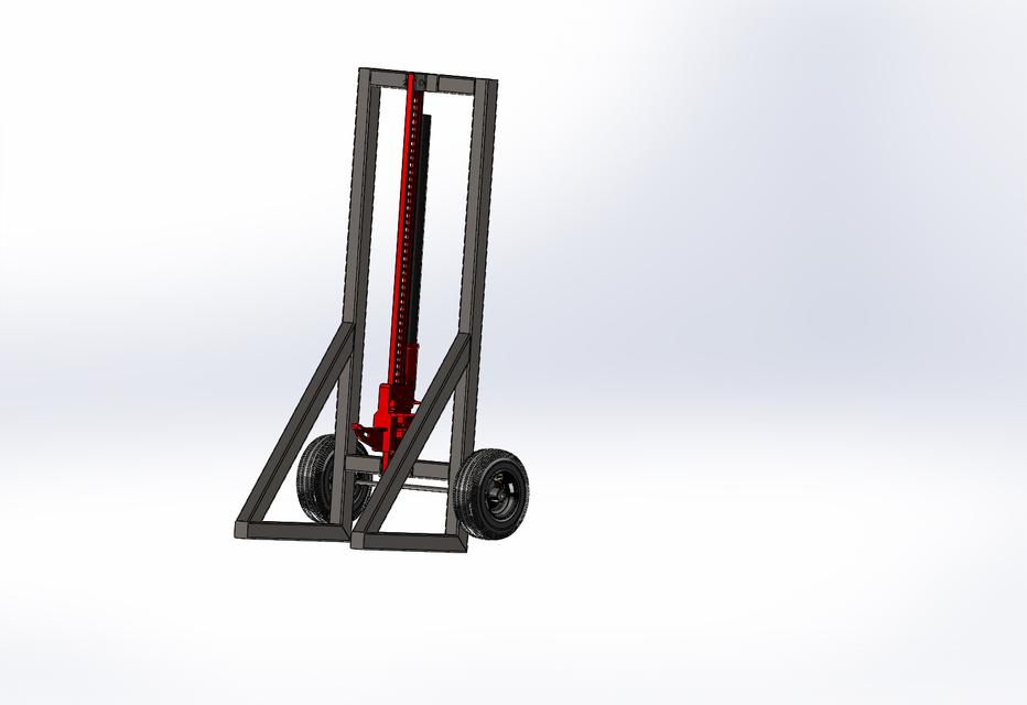 hi lift jack post puller 3d cad model grabcad