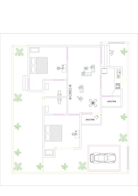 My Design for 2BHK Flats & 2BHK specious Row House | 3D CAD Model ...