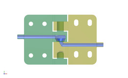 3D Hinge with Integrated Conduit