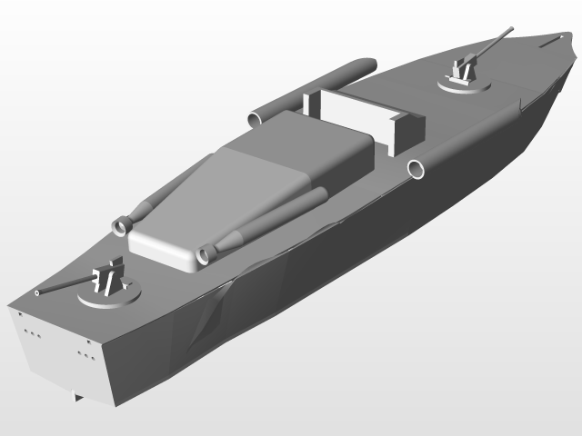 ELCO RC PT boat model | 3D CAD Model Library | GrabCAD