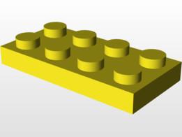 Lego 2x4 flat