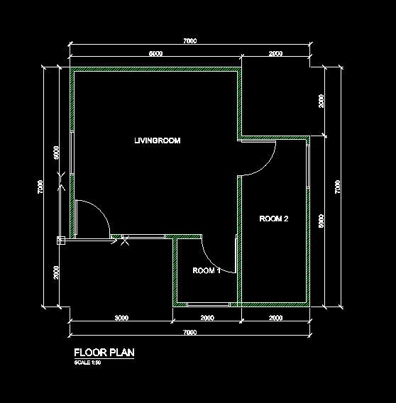 Floor Plan Practice For Draftsight Plotting 3d Cad Model Library Grabcad