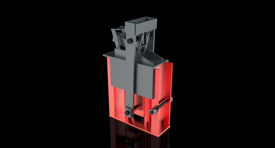 Concrete block press CETA-RAM | 3D CAD Model Liry | GrabCAD