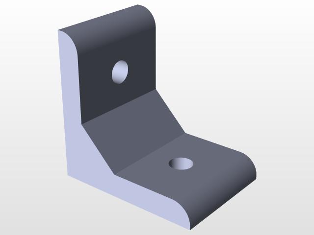 Aluminum Profile Corner 40X40 | 3D CAD Model Library | GrabCAD
