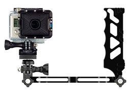 CNC machined Handle + Arm for the GoPro
