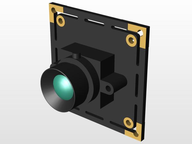 ELP 5megapixel Usb Camera module | 3D CAD Model Library | GrabCAD
