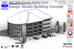 Revit Skills Showcase: Design Studio Building Concept