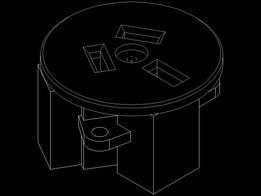 clipsal 38-10 240V 10A panel mount mains socket