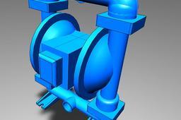 "SandPiper S15 diaphragm pump Ø1.1/2"" (Draft)"