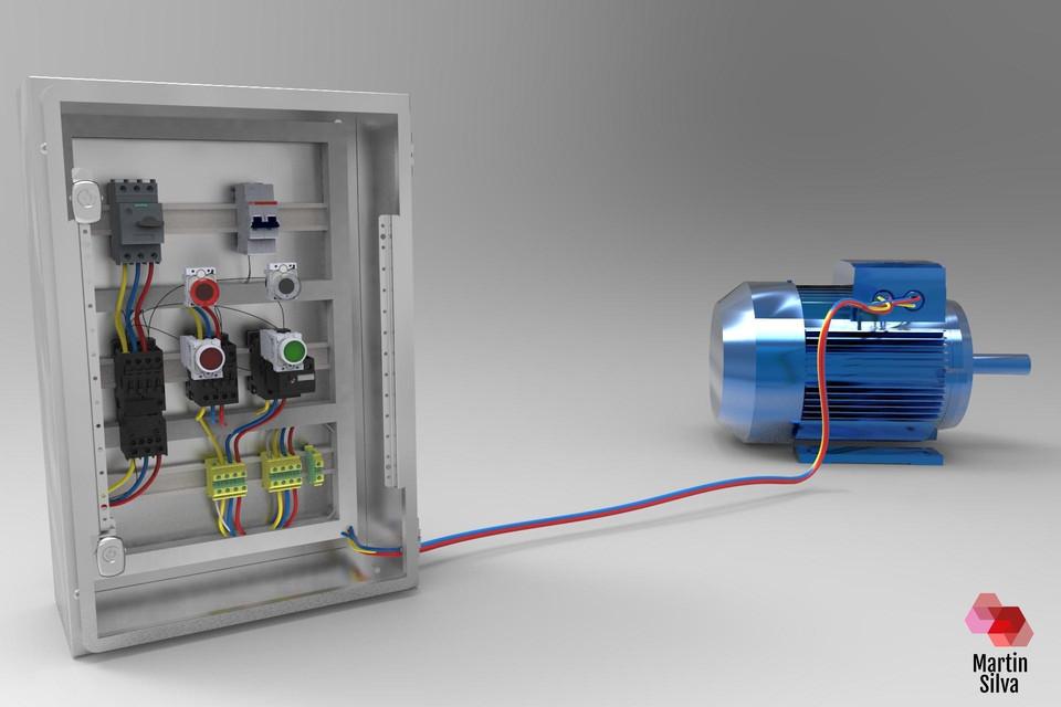 Star-delta motor starter | 3D CAD Model Library | GrabCAD
