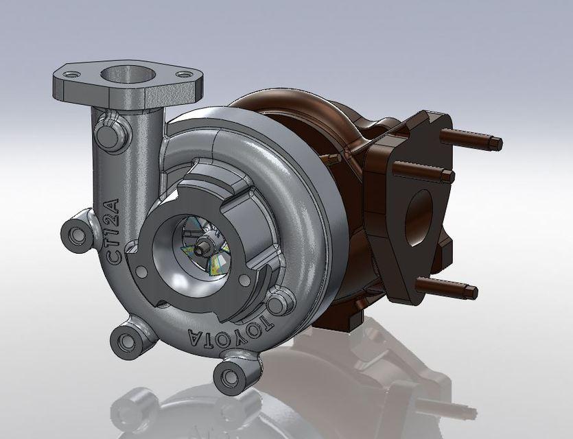 1JZ-GTE Engine components | 3D CAD Model Library | GrabCAD