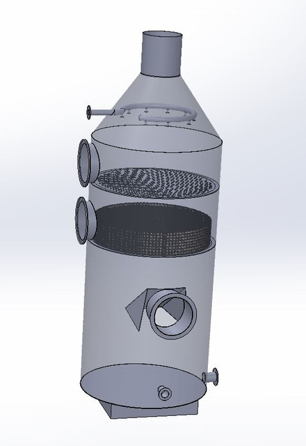 Wet Scrubber For Discharge Air Filter | 3D CAD Model Library