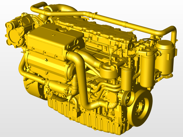 CAT ENGINE | 3D CAD Model Library | GrabCAD
