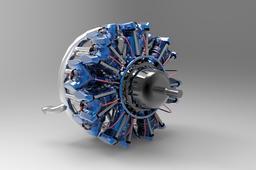 Motore Radiale 14 Cilindri