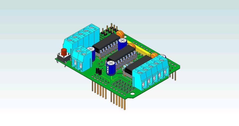 Requested Adafruit Servo Motor Shield Step Iges