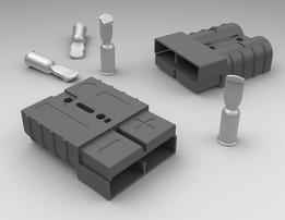 Conector de potência SB50 50A c/ conector de contato 75A