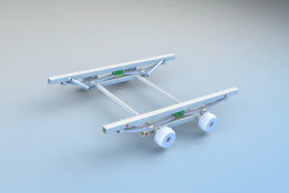 Trailer suspension chassis (tikitreiler) version 2