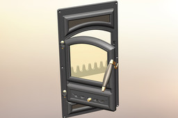 door for wood stoves