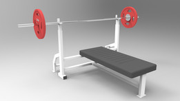 chest press / bench press / Barbell gym
