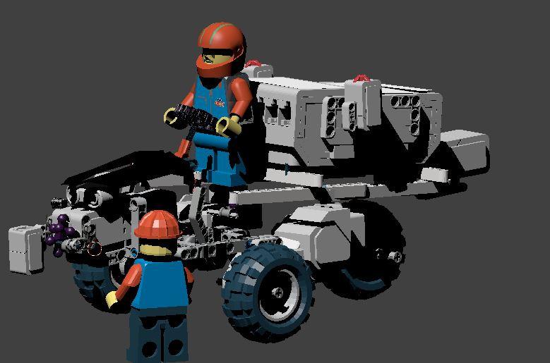 LEGO mindstorm car with people | 3D CAD Model Library | GrabCAD
