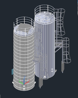 Water Tank Cad Block