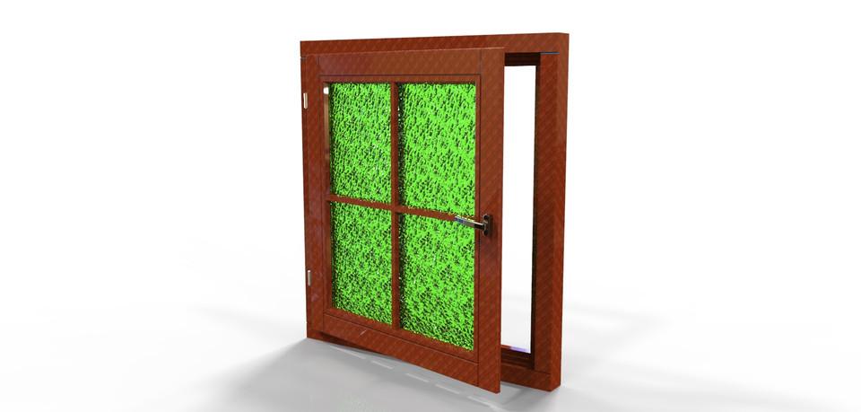 Wooden Window Frame 3d Cad Model Library Grabcad