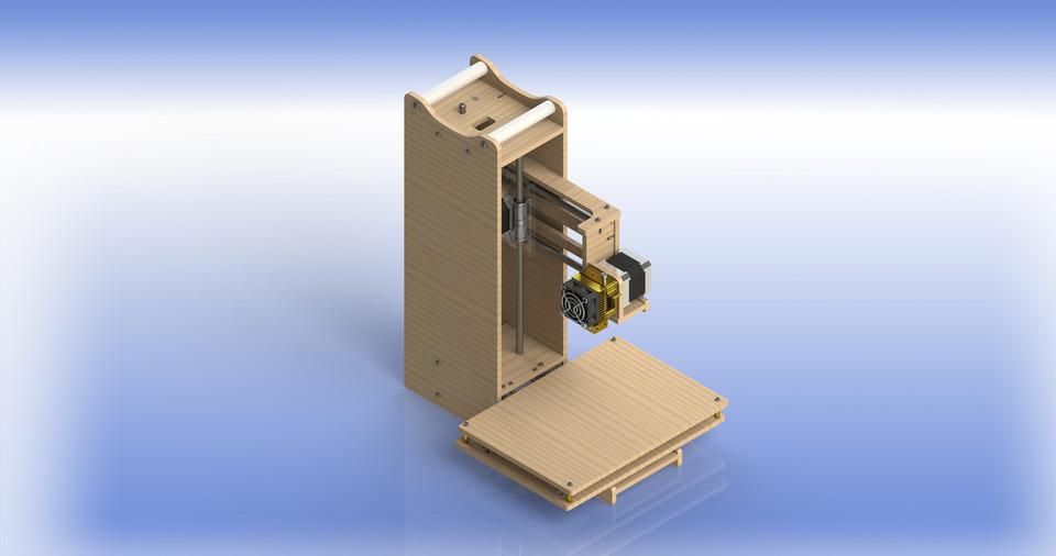 Tower Simple Xl 3d Printer Solidworks Solidworks Stl