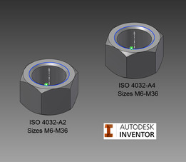 Hex Nut, ISO 4032 (SS)