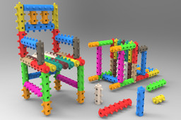 """Model Of A Chair (Build Up With """"Sticky""""-Components)"""