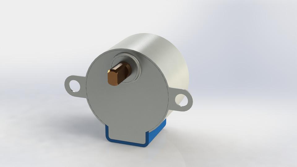 Stepper Motor 28byj 48 5v Dc Solidworks 3d Cad Model