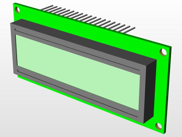 16x2 LCD Display | 3D CAD Model Library | GrabCAD