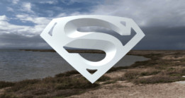 Superman badge model