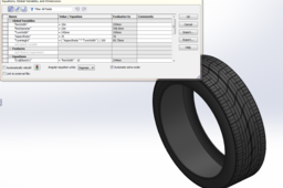 Variable dimension Tire