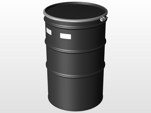 3D Modeling - Chemical Industry (Steel drums) | 3D CAD Model Library