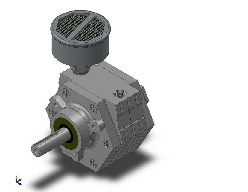 Gast Rotary Vane Air Motor Solidworks 3d Cad Model