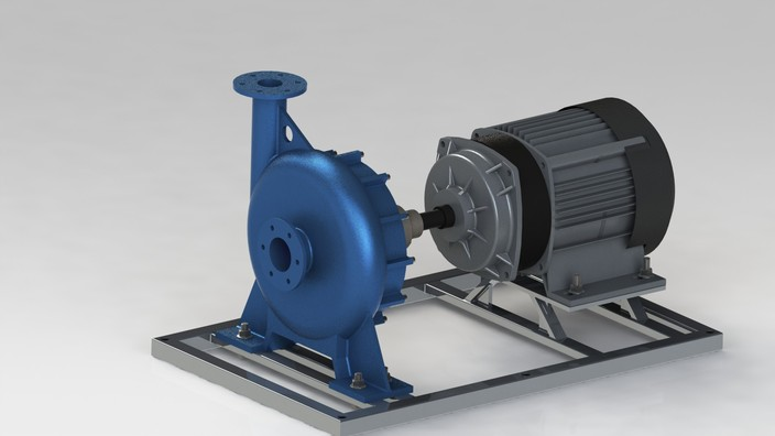 Centrifugal Pump Electric Motor Solidworks Other 3d