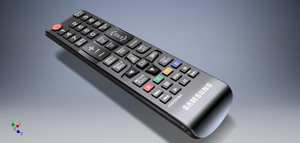 Samsung TV remote controller | 3D CAD Model Library