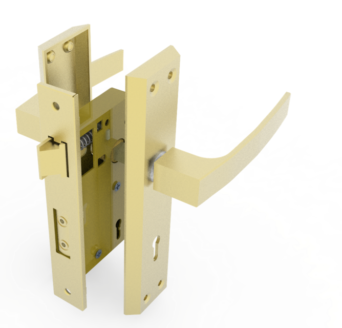 Door Lock Mechanism | 3D CAD Model Library | GrabCAD
