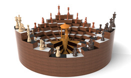 3 Player Chess Board New Concept