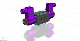 Double solenoid valve 4/3