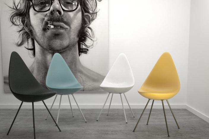 drop chair by arne jacobsen obj 3d cad model grabcad. Black Bedroom Furniture Sets. Home Design Ideas