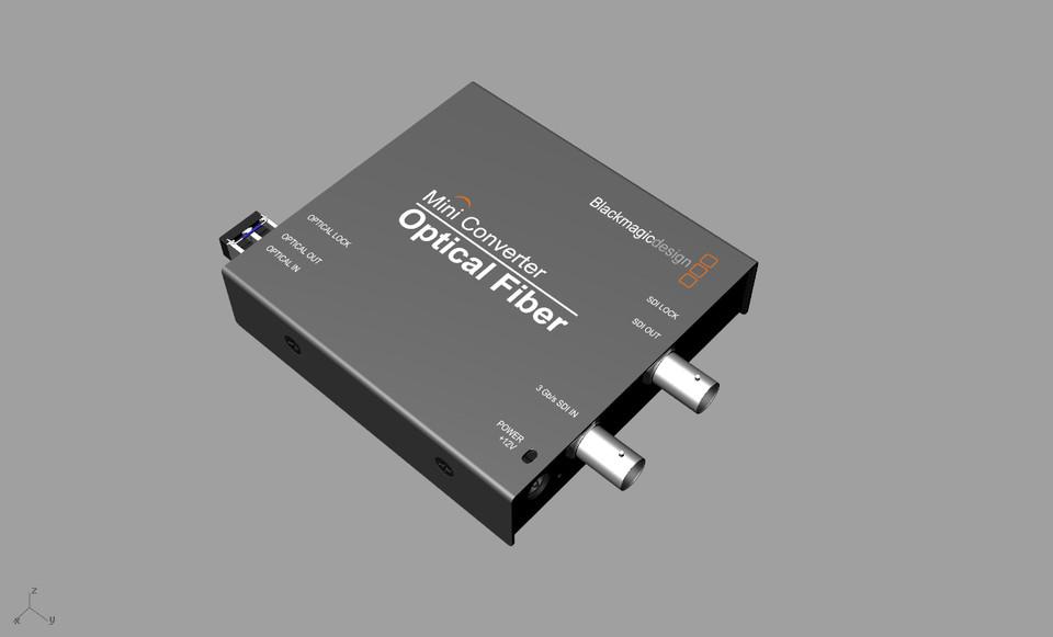 Blackmagic MiniConverter - Optical Fiber | 3D CAD Model