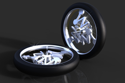ZW3D motorcycle wheel